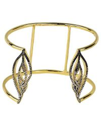 Noir Jewelry - Radiance Hem Inlay Bangle - Lyst