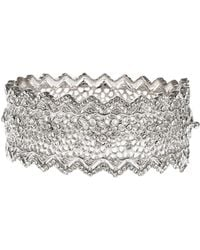 Jardin - Pointed Edge Floral Hinge Bangle - Lyst
