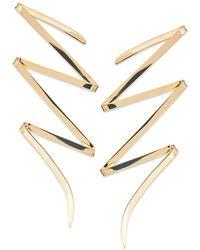 Lana Jewelry - Large Bolt 14k Yellow Gold Stud Earrings - Lyst
