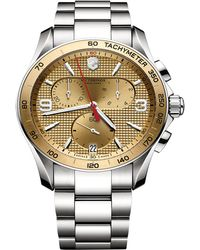 Victorinox - Chrono Classic Stainless Steel Watch, 41mm - Lyst