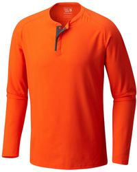 Mountain Hardwear - Solid Long Sleeve Henley - Lyst