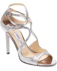 Jimmy Choo - Lang Patent Leather Strappy Sandal - Lyst