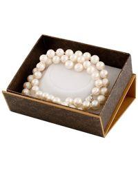 Splendid - Splendid Freshwater Pearls Rhodium Plated 9-10mm Freshwater Pearl Stud Earrings - Lyst