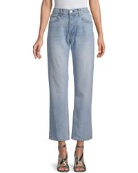 Helmut Lang - Cropped Straight Jeans - Lyst