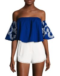 Kas - Brooklyn Cotton Embroidered Blouse - Lyst