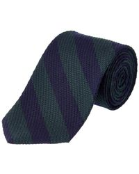 Brooks Brothers - Green Striped Wool-silk Blend Tie - Lyst