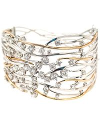 Diana M. Jewels - . Fine Jewellery 14k Two-tone 4.05 Ct. Tw. Diamond Bangle - Lyst