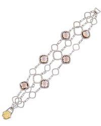 Tacori - Color 18k & Silver 18.00 Ct. Tw. Smoky Quartz Bracelet - Lyst