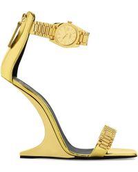 """Giuseppe Zanotti - Sculpted Sandals With """"watch"""" Detail Gzxcowan - Lyst"""