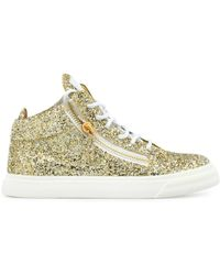 b0ef8b7fb4bb0 Giuseppe Zanotti Breck Mid Top Sneaker (women) in Natural - Lyst
