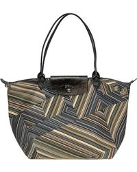 Longchamp - 'le Pliage' Optical Print Nylon Bag - Lyst