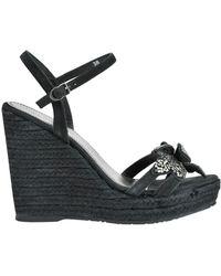 Apepazza - Suede Wedge Sandals - Lyst