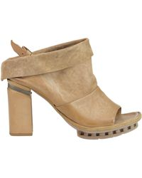 A.s.98 - Vintage Effect Leather Sandals - Lyst