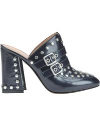 Twin Set - Studded Leather Mules - Lyst