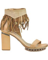 A.s.98 - Fringed Leather Sandals - Lyst