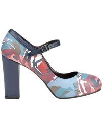 Lisa Corti - Printed Leather Mary Jane Pumps - Lyst