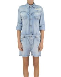 MM6 by Maison Martin Margiela - Denim Dungarees - Lyst
