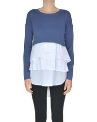 Twin Set - Flounced Top Pullover - Lyst
