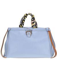 Paula Cademartori Gray handbag with multicolor print i8p4aFq