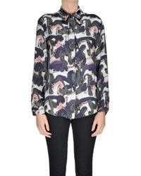 L'Autre Chose - Printed Silk Shirt - Lyst