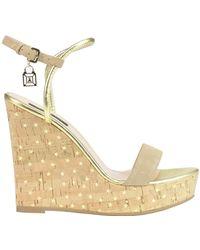 Patrizia Pepe - Cork Wedge Sandals - Lyst