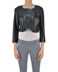 Pinko - Eco-leather Cropped Jacket - Lyst