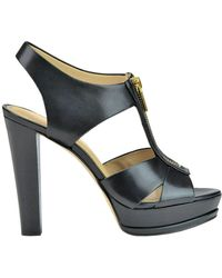 MICHAEL Michael Kors - Bishop Leather Sandals - Lyst