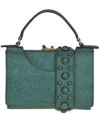 L'Autre Chose - Metallic Effect Leather Bag - Lyst