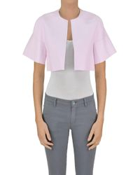 Pinko - Erice Eco-leather Cropped Jacket - Lyst