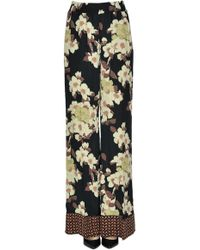 Twin Set - Flower Print Crepè Trousers - Lyst