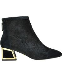 Kat Maconie - Ursula Reptile Print Haircalf Aknle Boots - Lyst