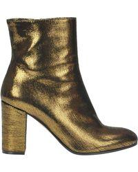L'Autre Chose - Metallic Effect Leather Ankle-boots - Lyst