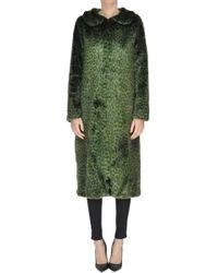 Shrimps - Animal Print Eco-fur Coat - Lyst
