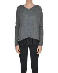 Twin Set - Mohair Wool-blend Pullover - Lyst