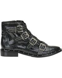 Schutz - Darcey Crocodile Print Leather Boots - Lyst