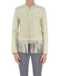 Patrizia Pepe - Studded Leather Jacket - Lyst