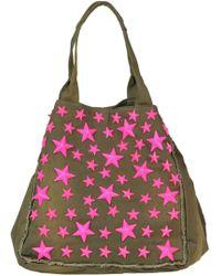 Mia Bag - Studded Fabric Shopping Bag - Lyst