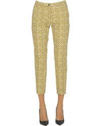 Seventy - Printed Slim Trousers - Lyst