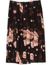 Rochas - Printed Skirt - Lyst