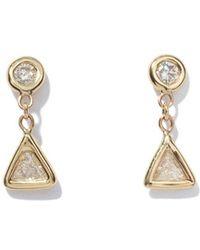 Jacquie Aiche - Trillion Diamond Drop Studs - Lyst