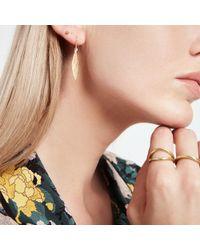 Jennifer Meyer - Hammered 1 Marquise Drop Earrings - Lyst
