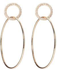 Sophie Ratner - Single Circle Hinge Ring Pave Earrings - Lyst