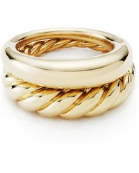 David Yurman - Pure Form Stacking Rings - Lyst