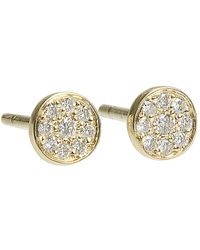 Jennifer Meyer - Diamond Circle Stud Earrings - Lyst