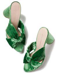 Loeffler Randall - Coco Velvet Heel Sandals - Lyst