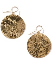 Jennifer Meyer Large Hammered Disk Earrings