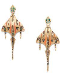Venyx Rainbow Tiger Ray Earrings