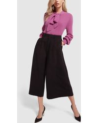 Co. - Tropical Tton Black Culottes Pants, X-small - Lyst