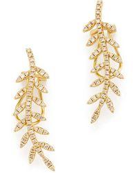 Rosa De La Cruz - Ivy Gold Diamond Ear Cuffs Earring - Lyst
