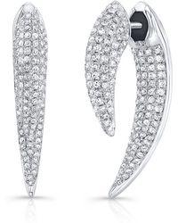 Anne Sisteron - 14kt White Gold Diamond Sabre Earrings - Lyst